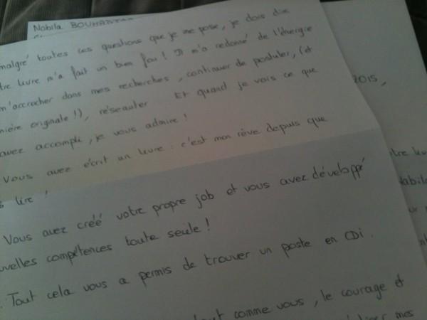 lettre fan