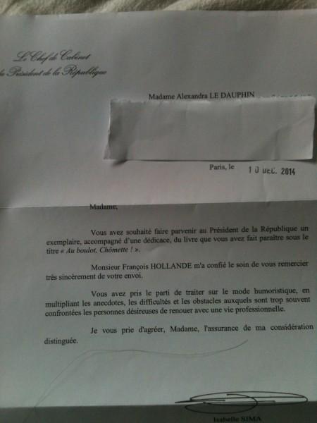 réponse françois Hollande