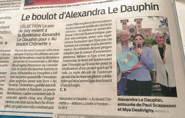 Article Sud-Ouest 14.09.15