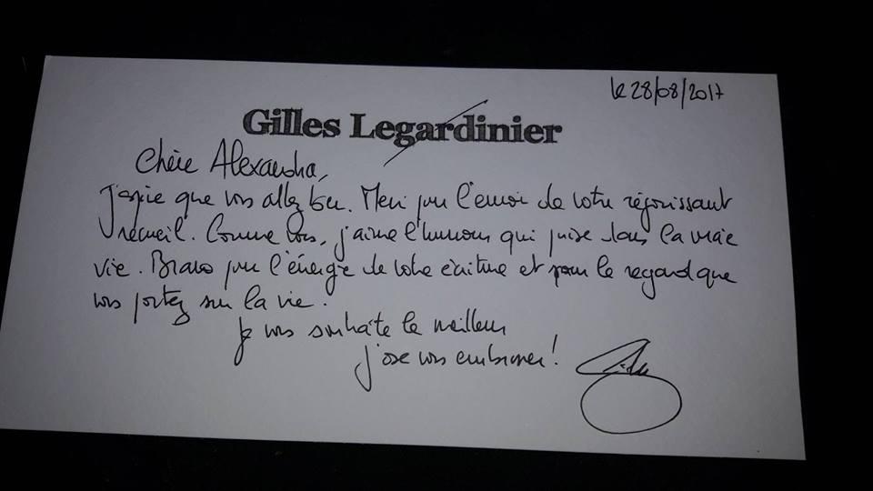 Dédicace Gilles Legardinier